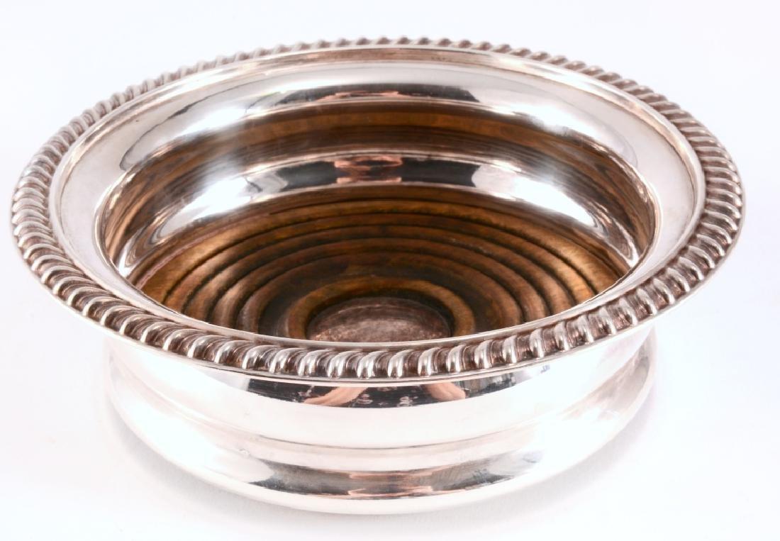 Barker Ellis Silver Plate on Copper Wine Coaster