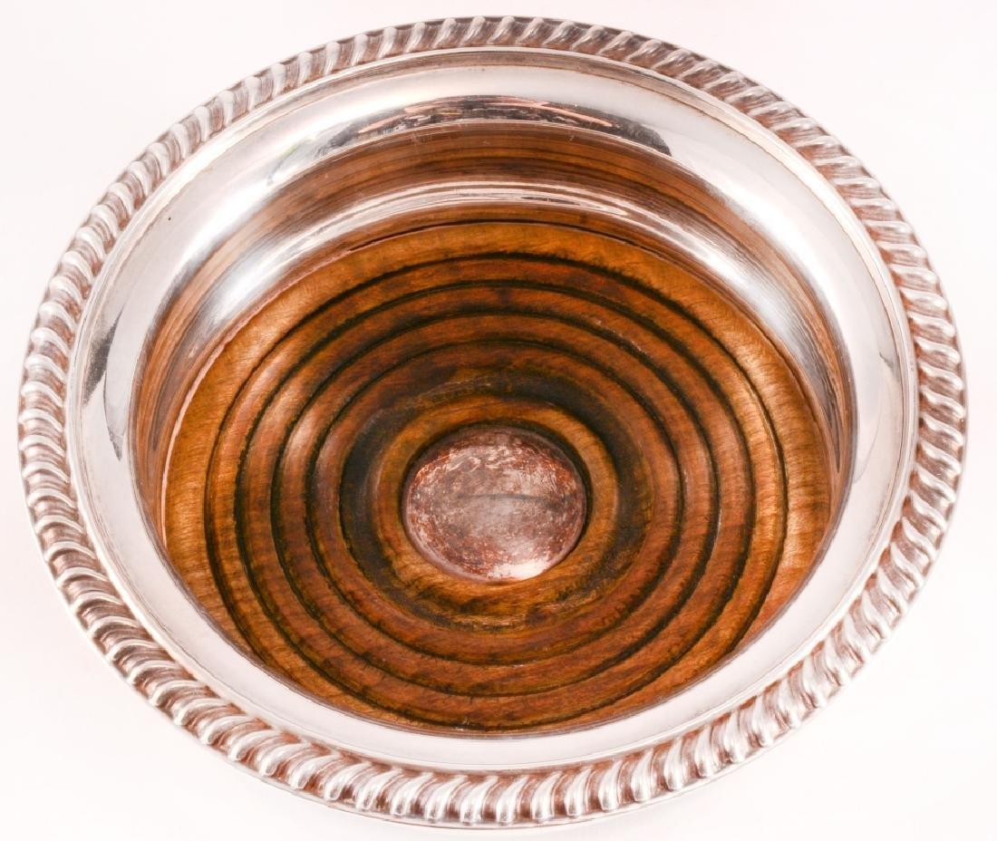 Barker Ellis Silver Plate on Copper Wine Coaster - 2
