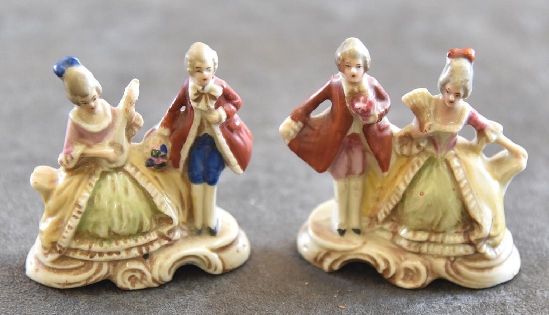 Pair of Ceramic Victorian Couples Figurines