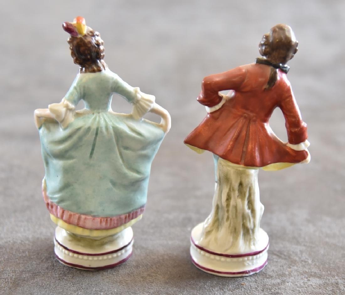 Ceramic Victorian Couple Figurines - 2