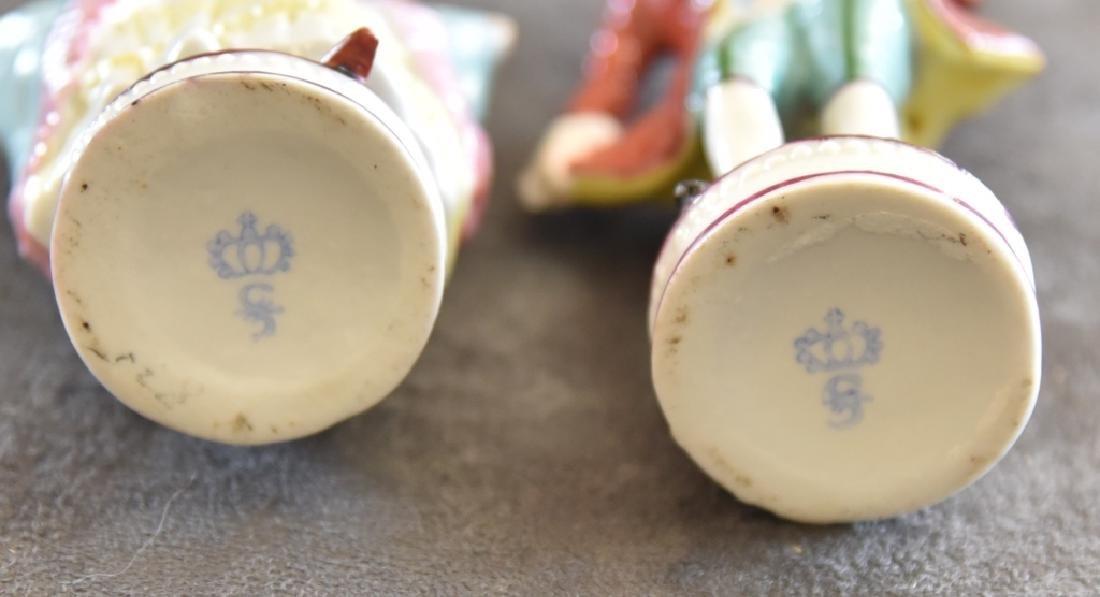 Ceramic Victorian Couple Figurines - 3
