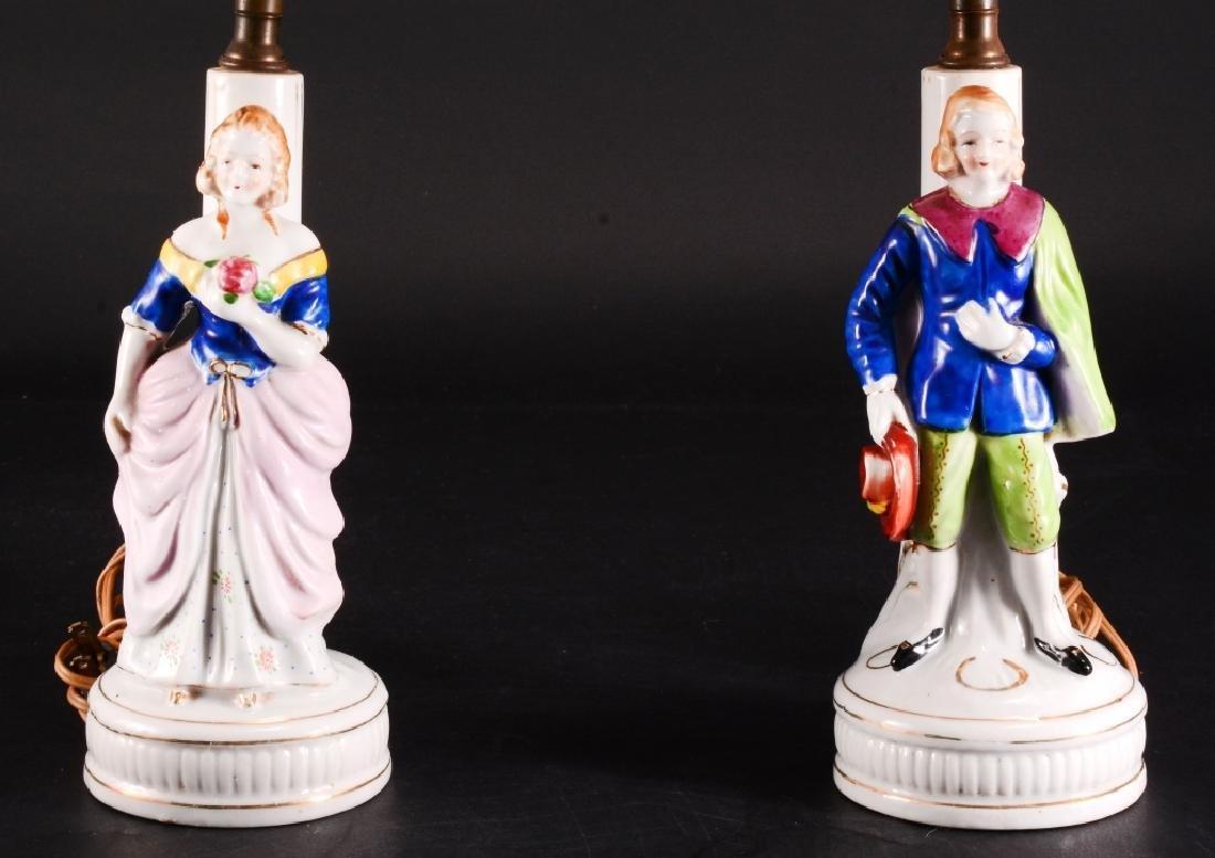 Pair of Vintage Ceramic Vanity Lamps - 2