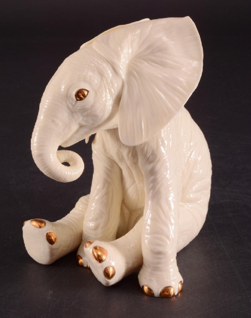 Lenox African Elephant Calf Ivory China Figurine