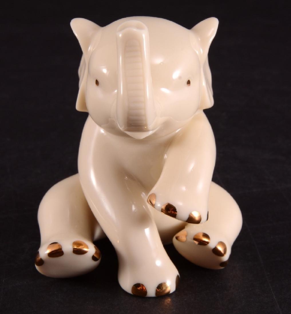 Lenox Sitting Elephant Miniature Figurine