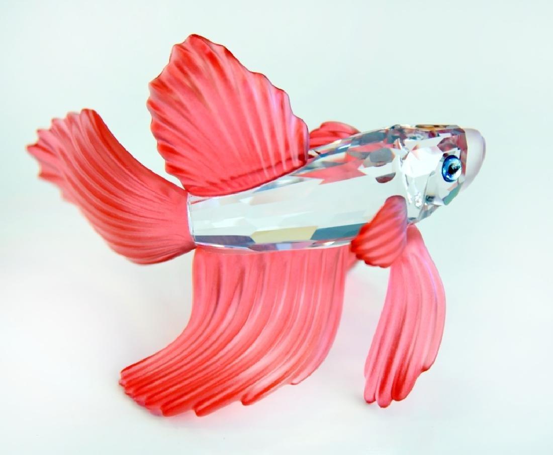 Swarovski Red Siamese Fighting Fish - 2