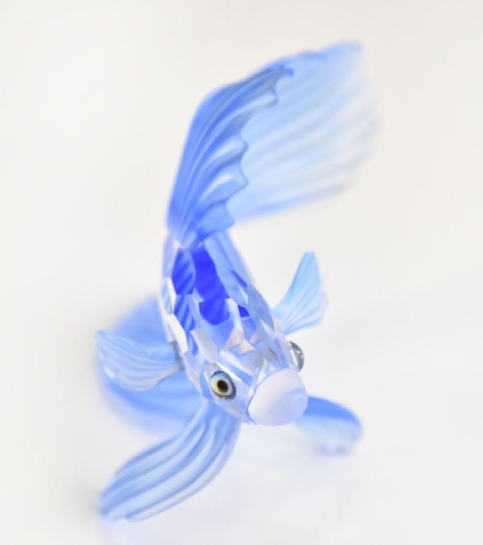 Swarovski Blue Siamese Fighting Fish - 2
