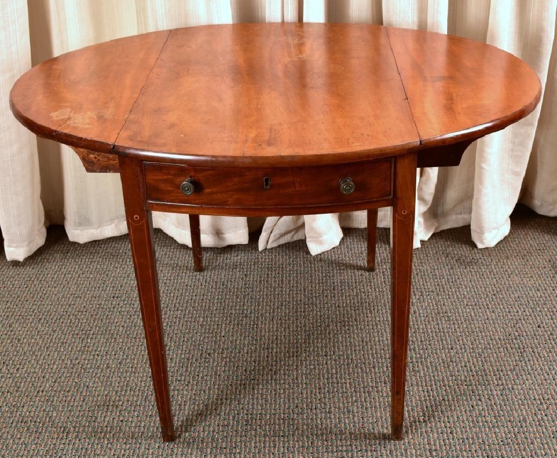 Antique Drop Leaf Table - 3