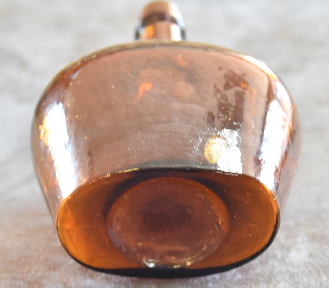 Vintage Amber Glass Bottle - 3
