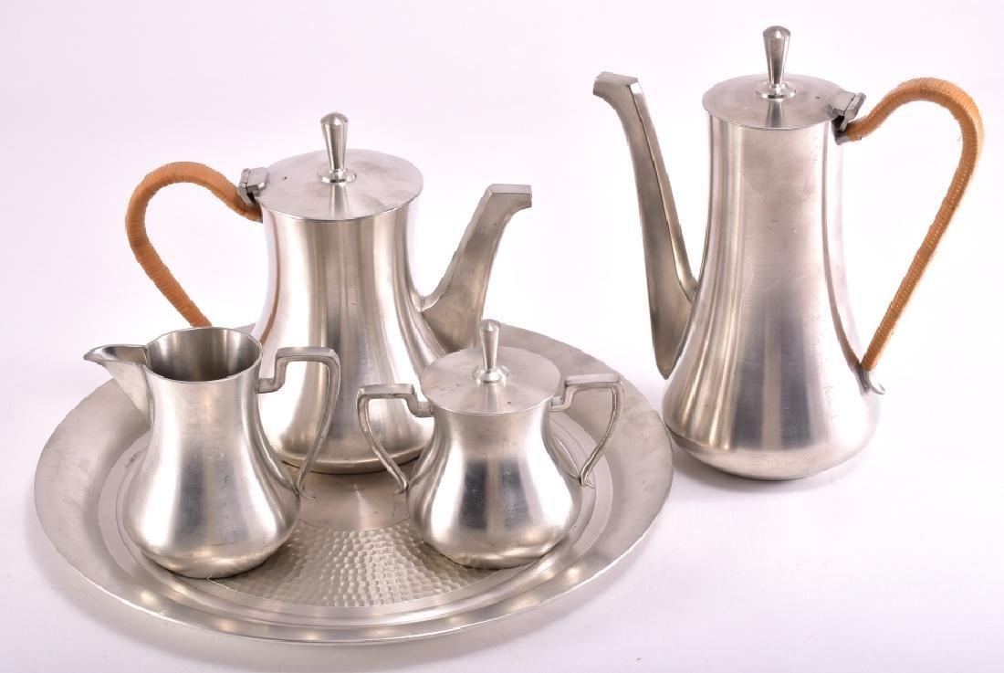Vintage Selangor Pewter Tea Set & Tray