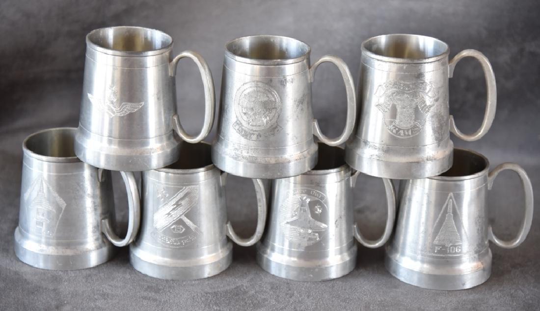 7 Vintage Selangor Pewter Stein/Mugs