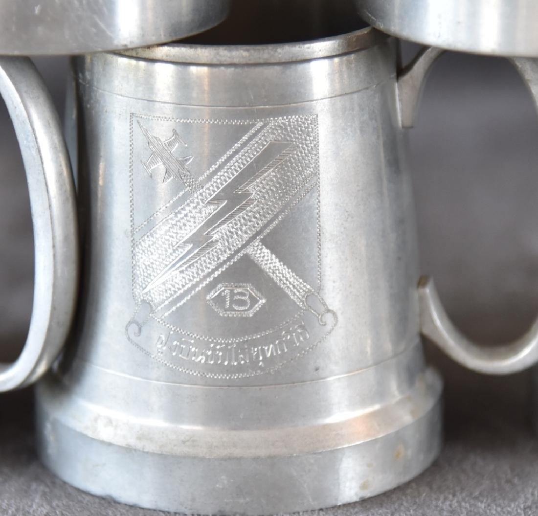 7 Vintage Selangor Pewter Stein/Mugs - 2