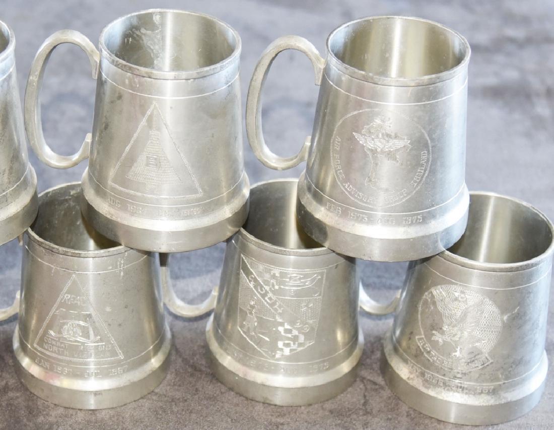 7 Vintage Selangor Pewter Stein/Mugs - 5