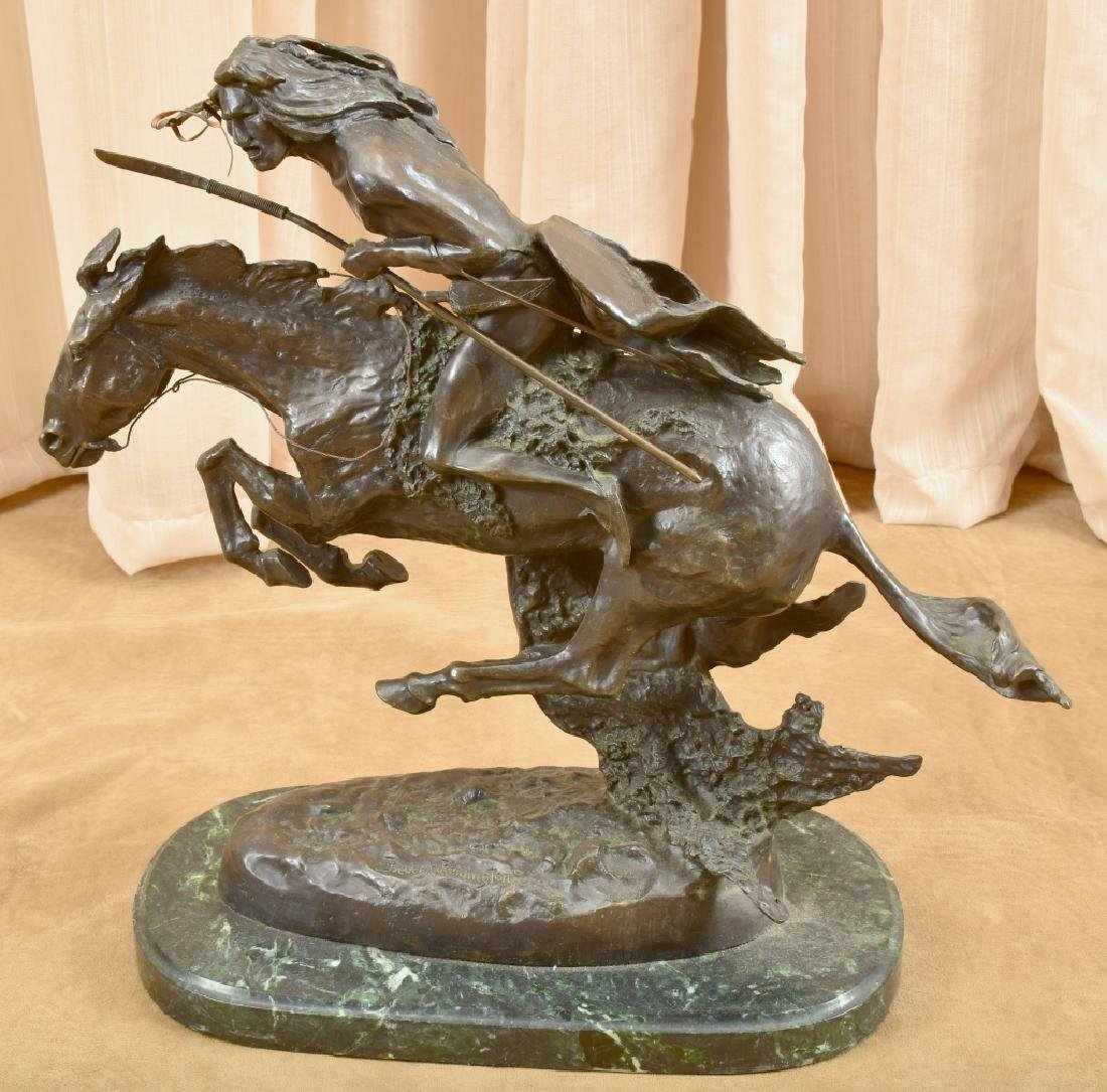 "Remington ""Cheyenne"" Bronze Sculpture"