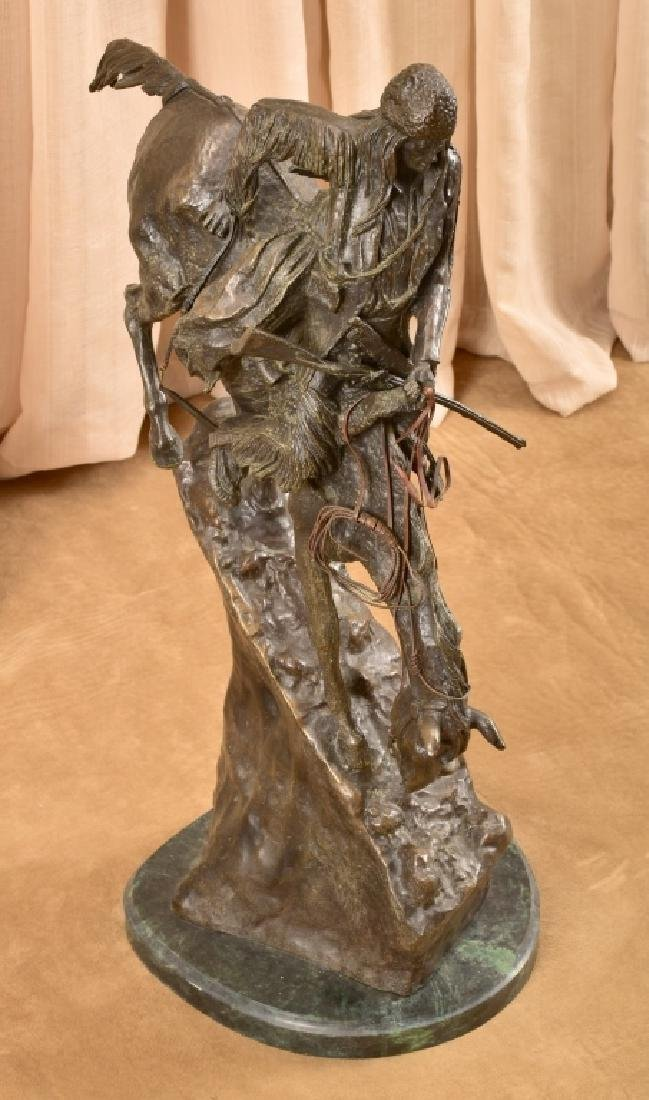 "Remington ""Mountain Man"" Bronze Sculpture"