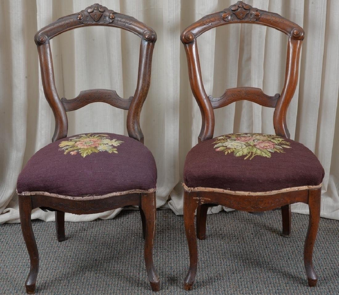 Pair of Victorian Side Chairs - 4