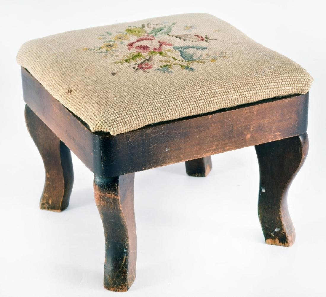Needle Point Foot Stool