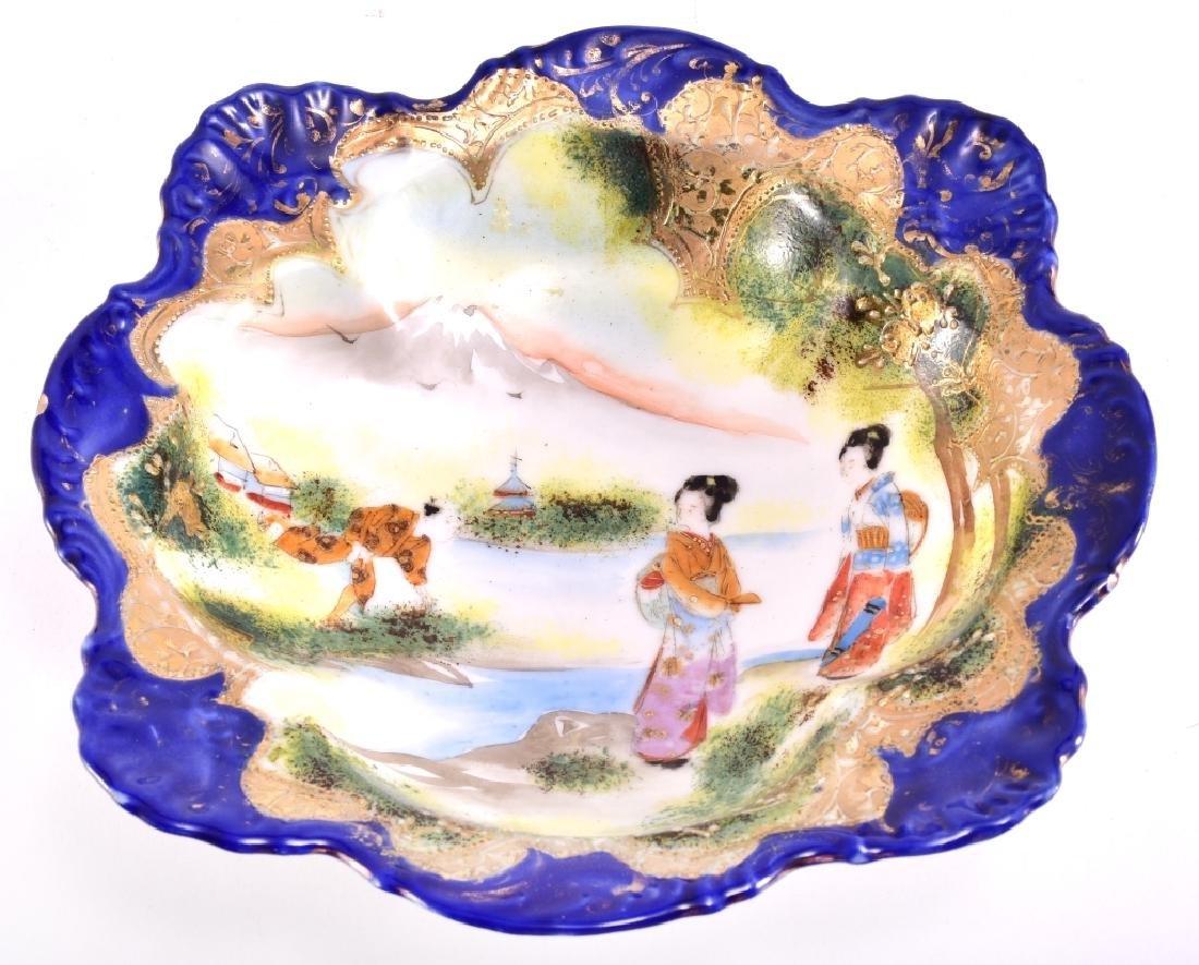 Japanese Geisha Women & Man By The River Bowl - 2
