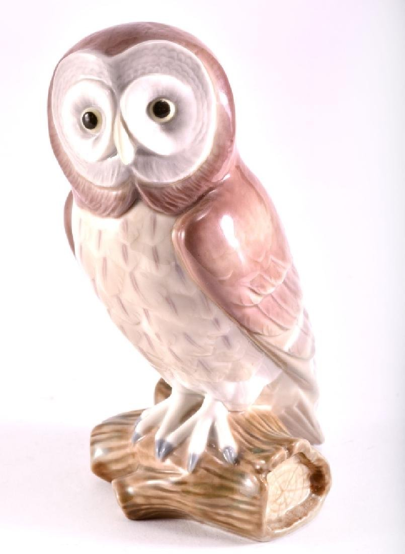 "Lladro ""Great Gray Owl"" Porcelain Figurine"