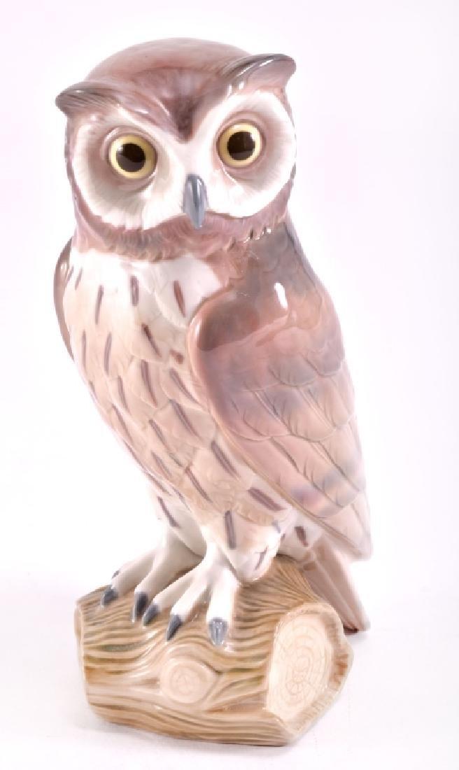 "Lladro ""Short Eared Owl"" Porcelain Figurine"