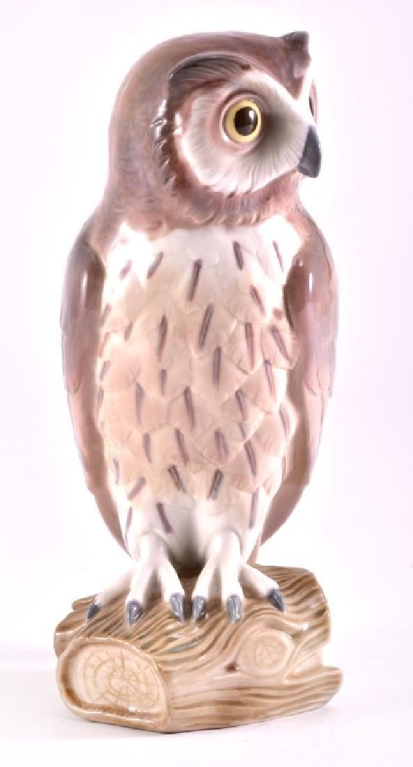 "Lladro ""Short Eared Owl"" Porcelain Figurine - 2"