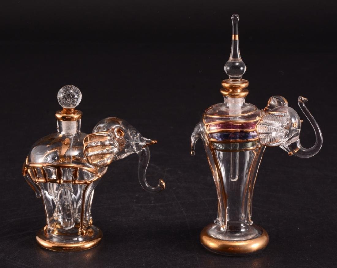 Hand Blown Glass Perfume Bottles w/Stoppers
