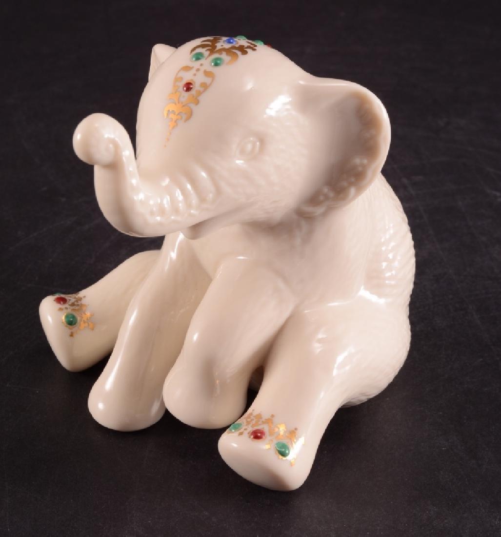 Lenox China Sitting Elephant Calf Figurine - 5
