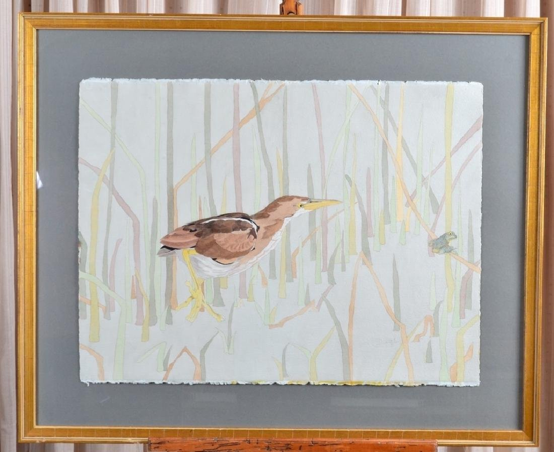 Bird After Frog Watercolor