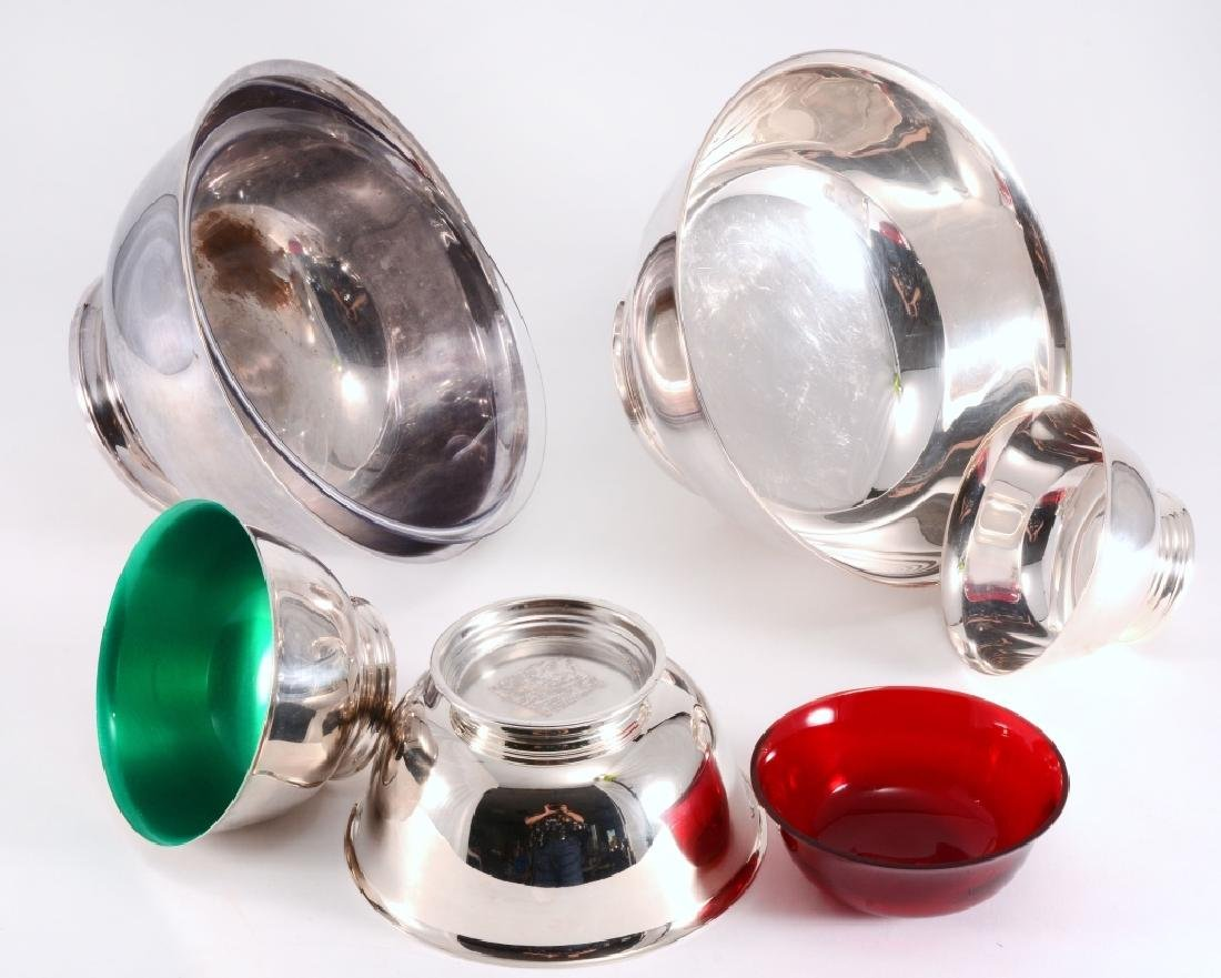 5 Silverplate Revere Bowls - 3