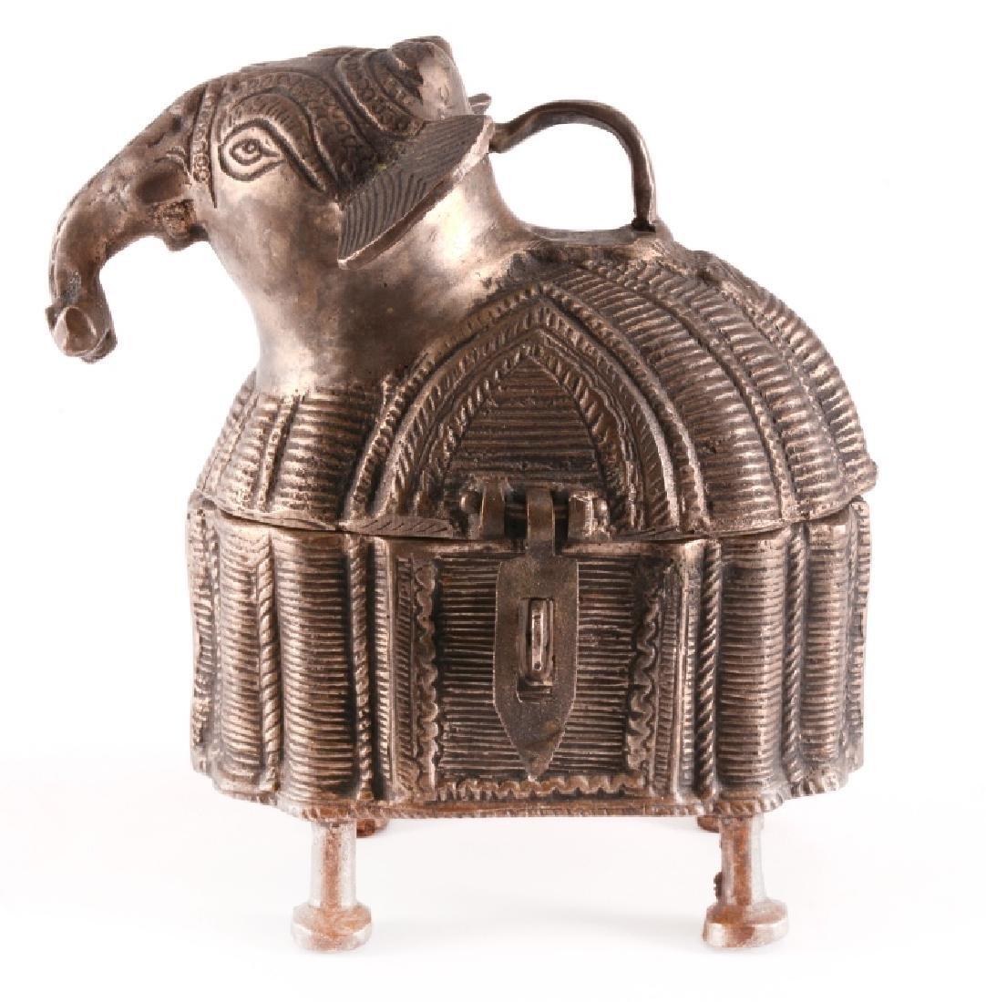 Vintage Brass DHOKRA Work Elephant Trinket Box - 4