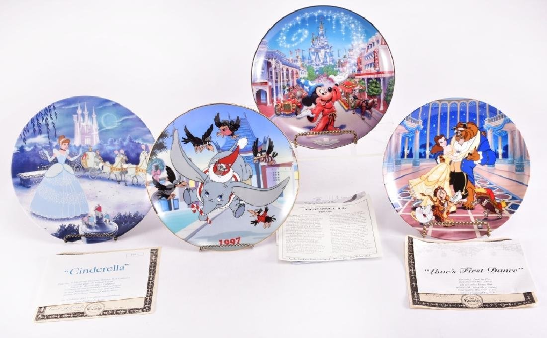 4 Disney Collector Plates