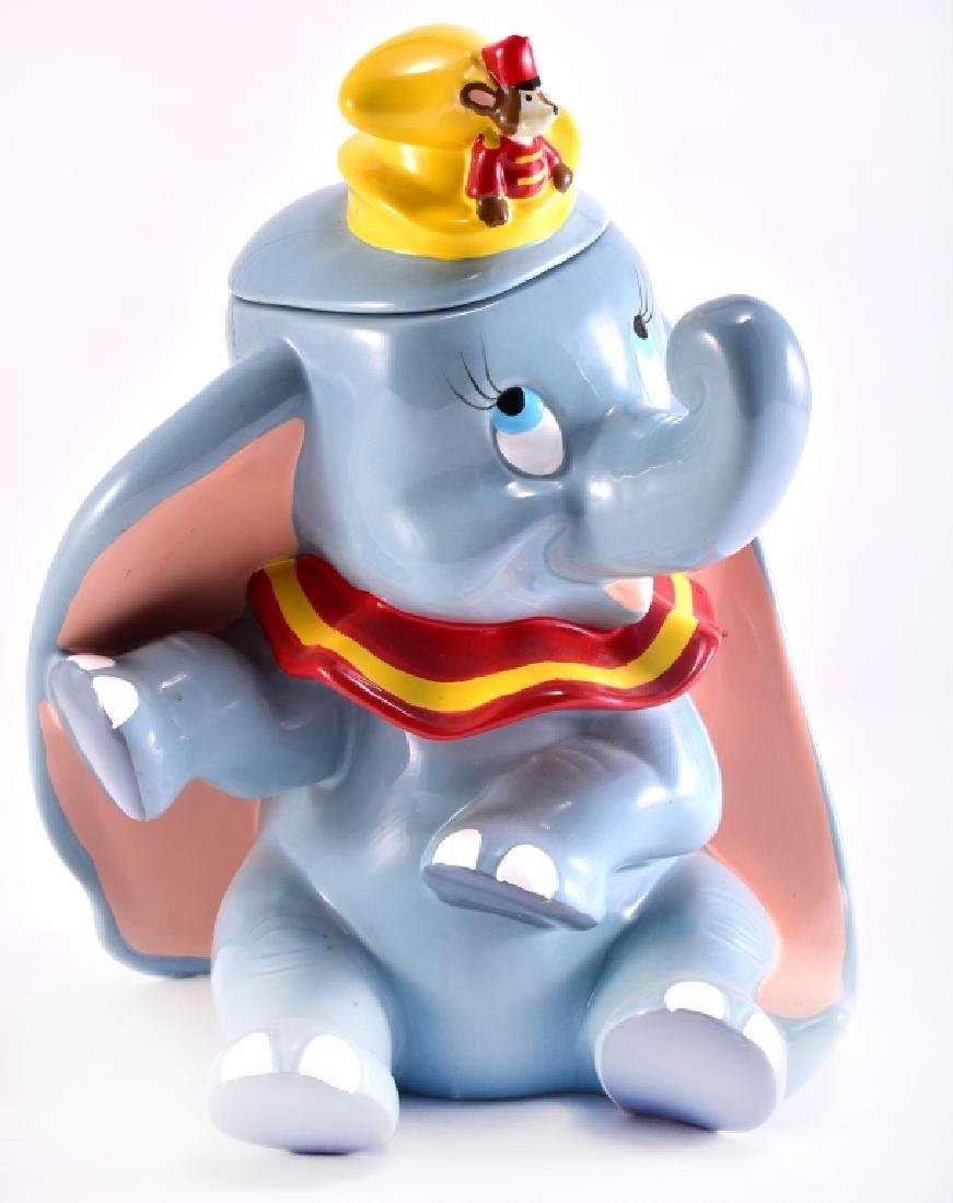 Disney Dumbo & Timothy Ceramic Cookie Jar - 2