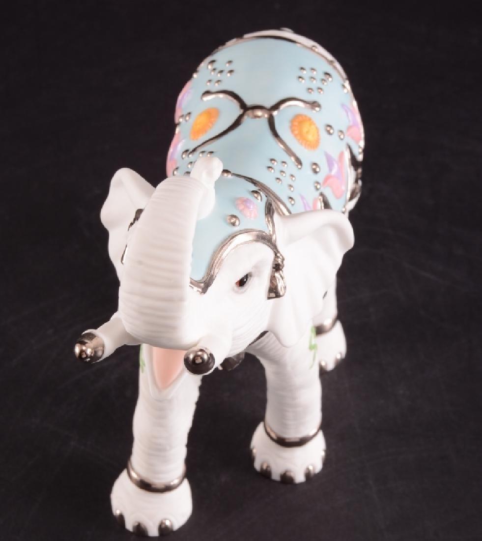 Lenox Platinum Classic White Elephant Figurine - 2