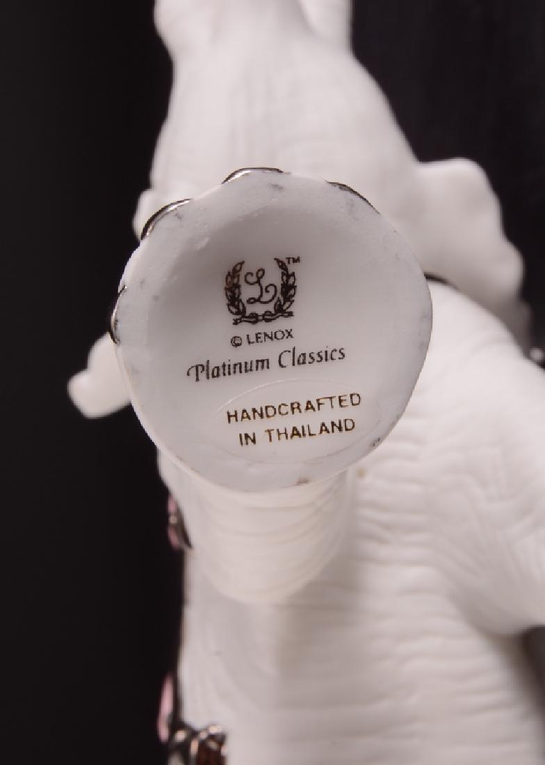 Lenox Platinum Classic White Elephant Figurine - 4