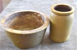 Antique Canning Crock Jar  Bowl