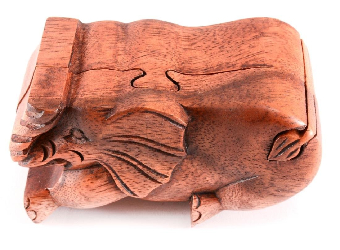 Wood Elephant Puzzle Box
