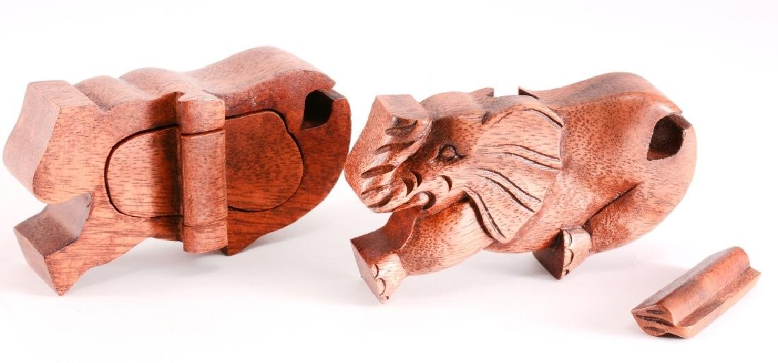 Wood Elephant Puzzle Box - 3