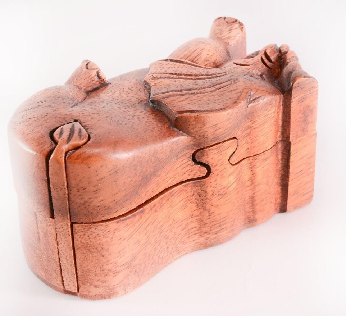 Wood Elephant Puzzle Box - 4