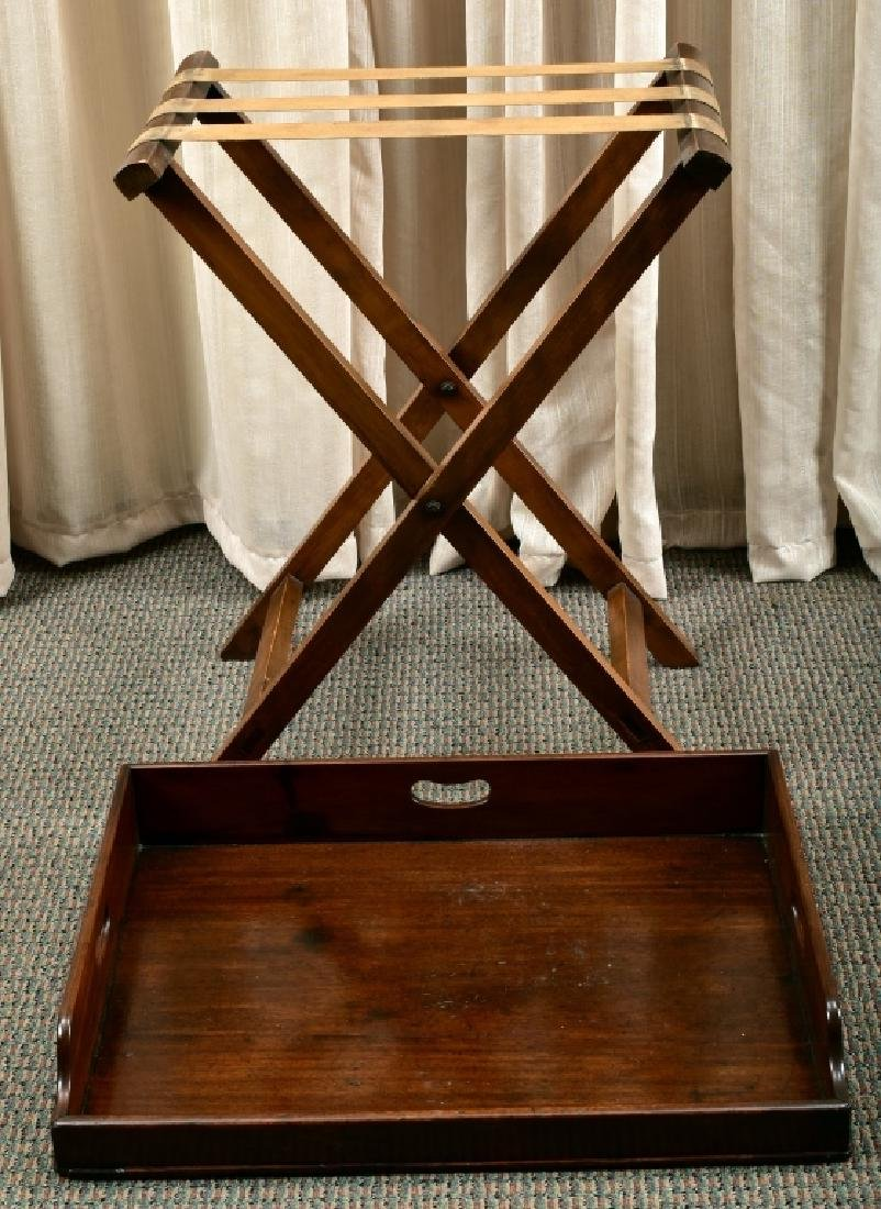 Antique Large Butler's Tray & Stand - 3
