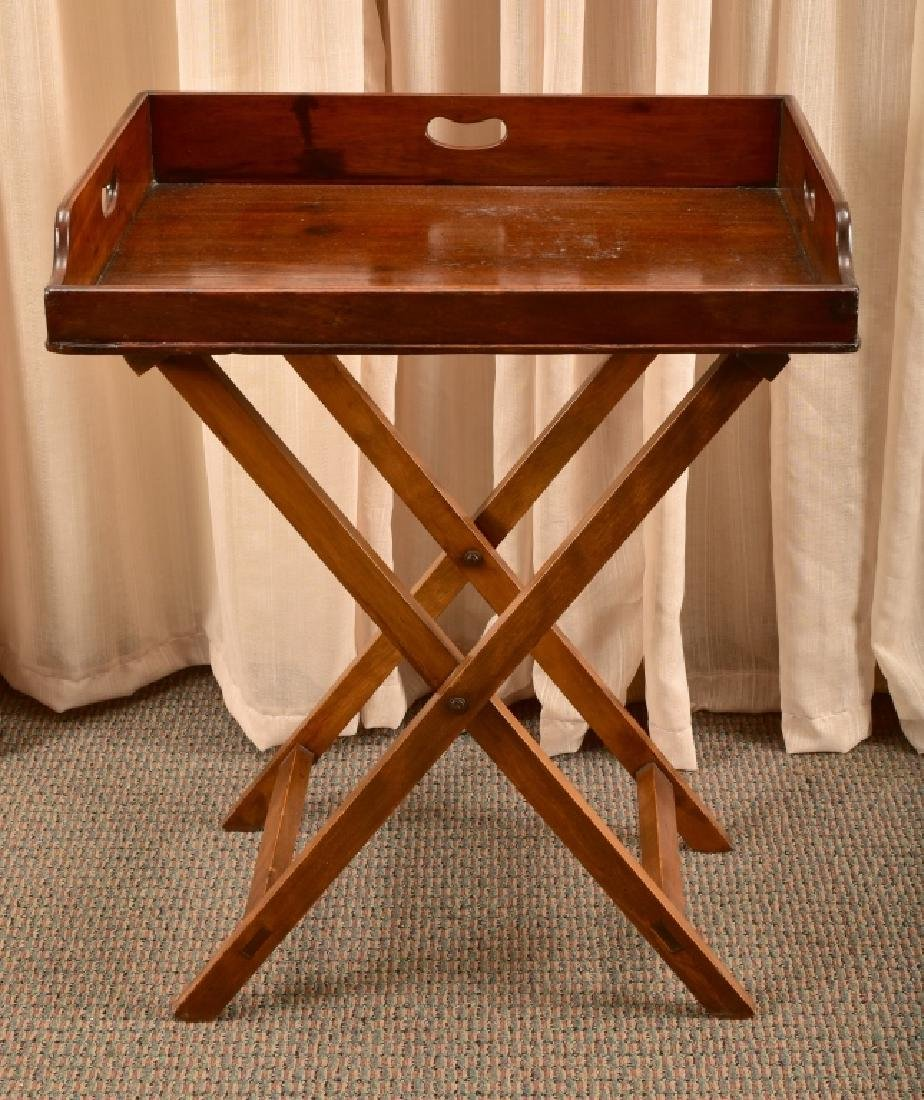 Antique Large Butler's Tray & Stand - 4