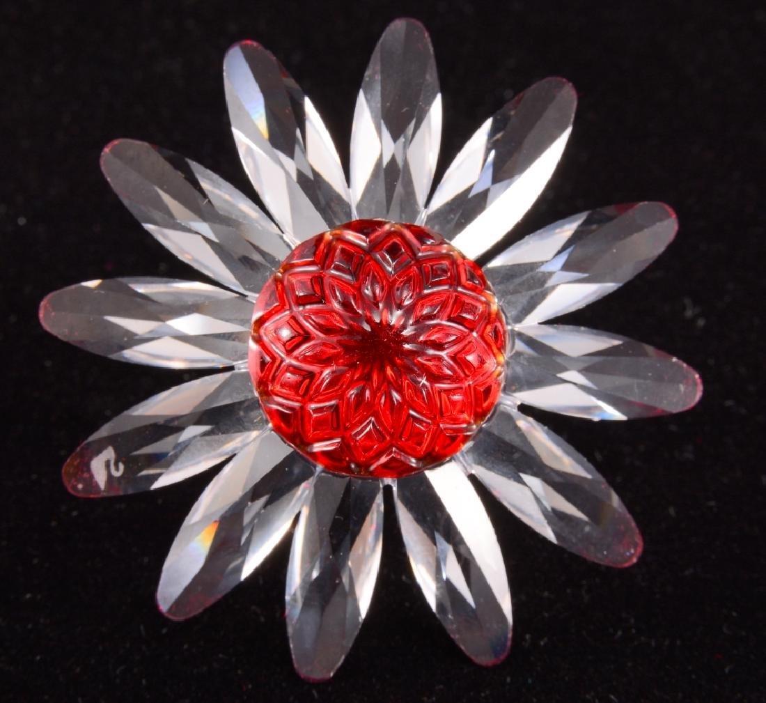 """Swarovski """"Marguerite"""" Red Daisy - 3"""