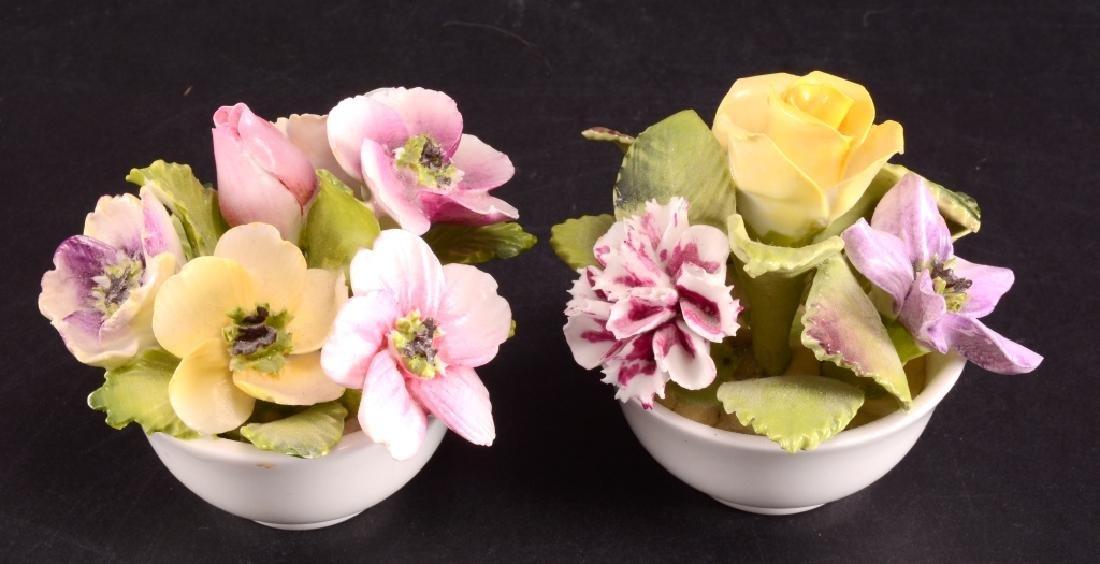 2 Coalport Bone China Bouquet of Flowers Figurines