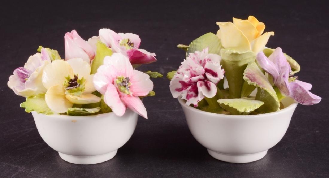 2 Coalport Bone China Bouquet of Flowers Figurines - 2