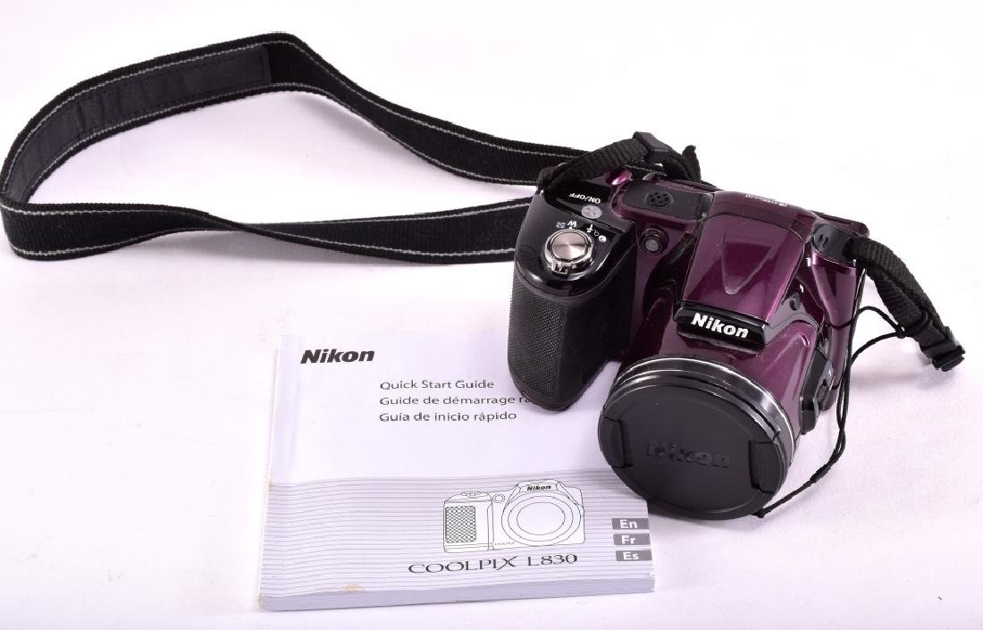 Nikon Cool Pix L830 16 MP Plum Digital Camera