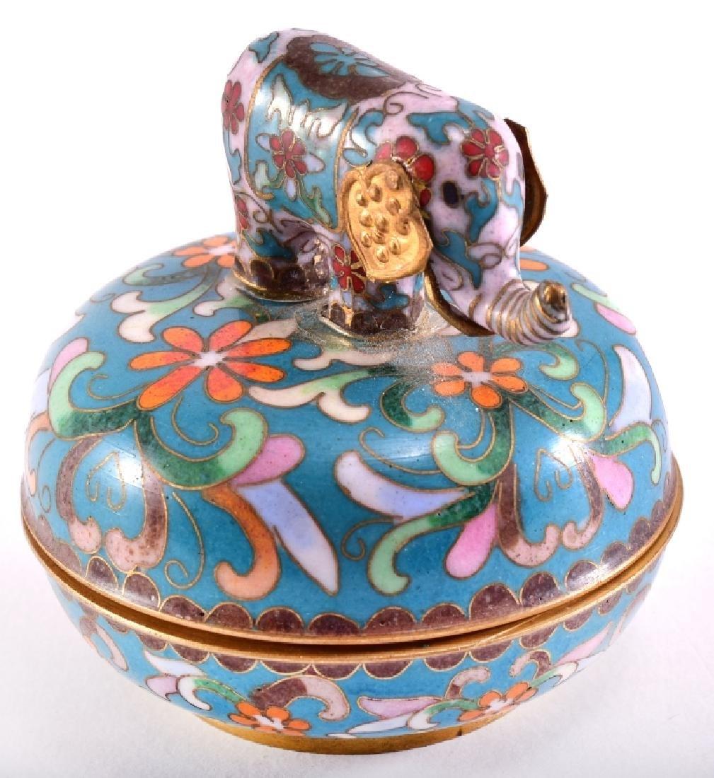 Oriental Cloisonné Elephant Trinket Music Box