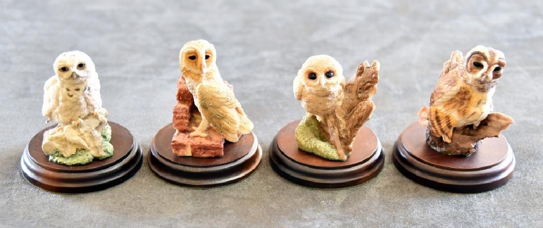 4 Collectible World Studios Owl Figurines