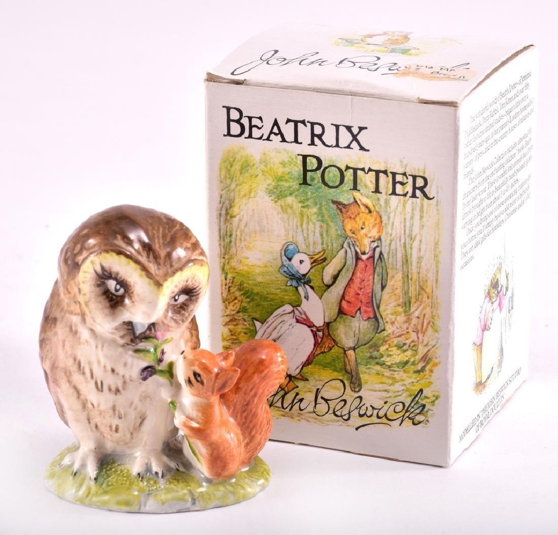 """Beatrix Potter """"Old Mr. Brown"""" Owl Figurine"""