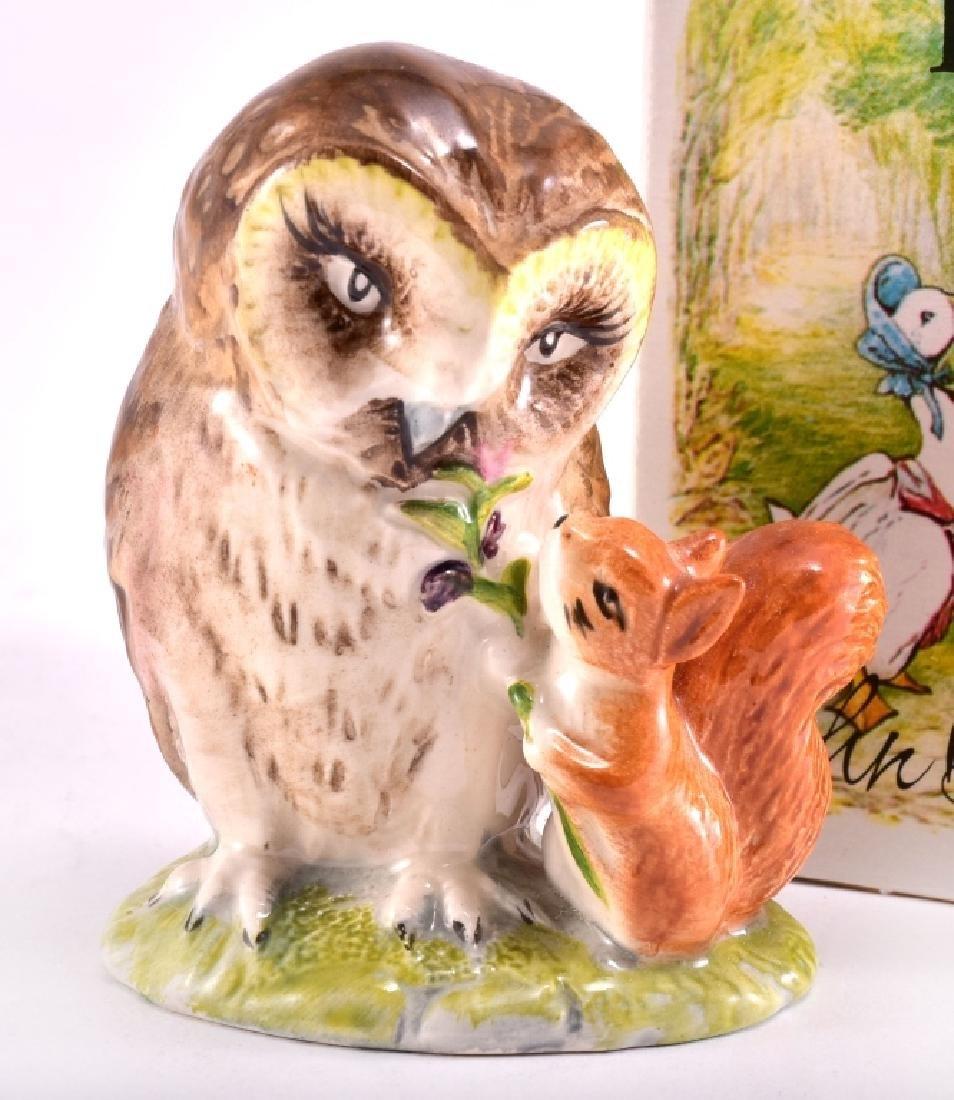 """Beatrix Potter """"Old Mr. Brown"""" Owl Figurine - 2"""