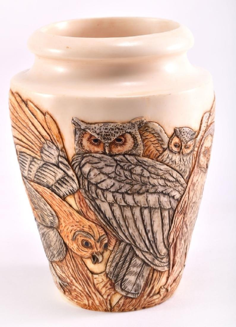 "Harmony Kingdom Jardinia ""Night Watch"" Owl Vase"