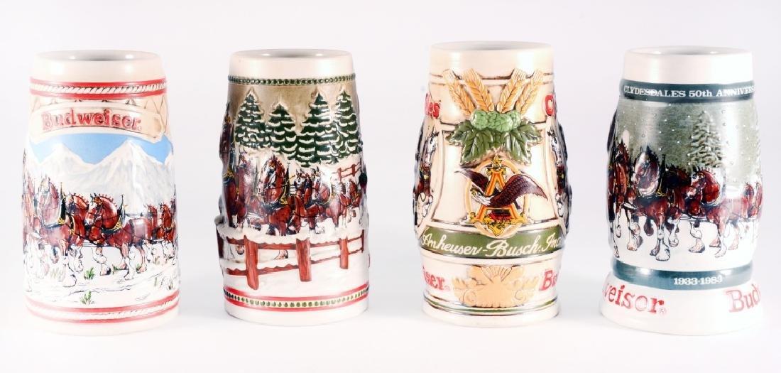 4 Budweiser Clydesdale Steins - 2