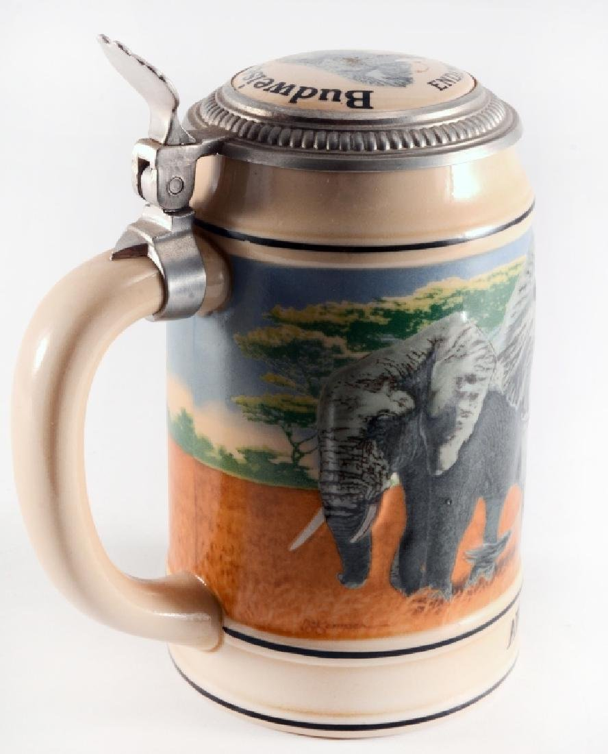 """Budweiser """"African Elephant"""" Stein w/Lid"""